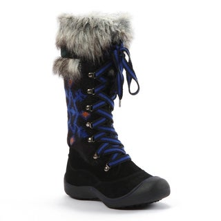 Muk Luks Women's 'Gwen' Black Tribal Motif Snow Boots