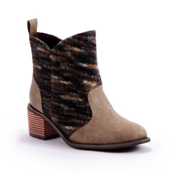 MUK LUKS Chloe Short Cowboy Boot