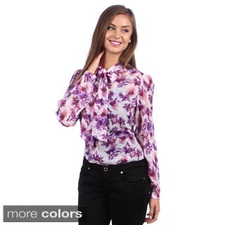 American Apparel Women's Chiffon Secretary Blouse