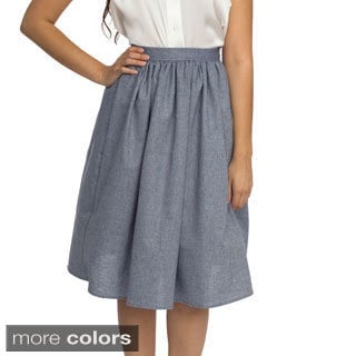 American Apparel Women's Mid-length Full Woven Skirt