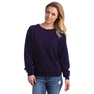 American Apparel Unisex Imperial Purple French Terry Drop Shoulder Sweatshirt