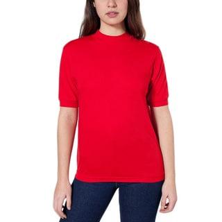 American Apparel Unisex Mock Neck T-shirt