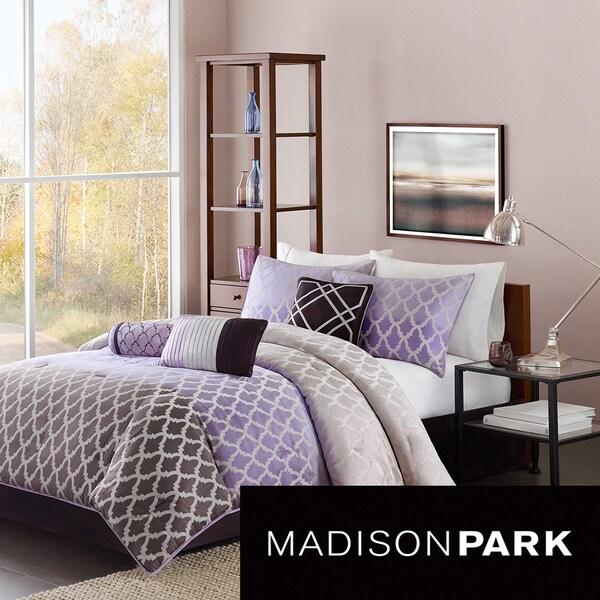 Madison Park Sidney Purple 7-piece Comforter Set