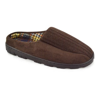 MUK LUKS Men's Ribbed Scuff with Berber Lining