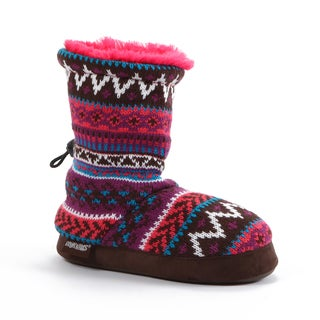 Muk Luks Southwest Fairisle Slipper Boot