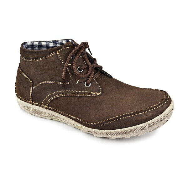 Muk Luks Men's 'Brandon' Coffee Leather Lace-up Casual Shoes
