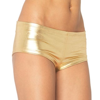 Leg Avenue Women's Gold Lame Spandex Boy Shorts