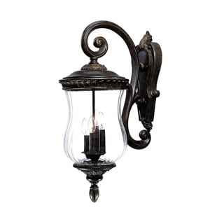 Bel Air Collection Wall-mount 4-light Outdoor Black Coral Light Fixture
