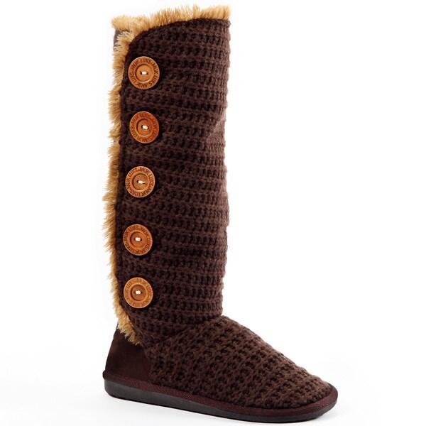 Muk Luks Women's 'Malena' Crochet Button-up Boots