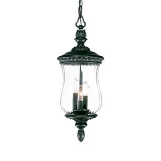 Bel Air Collection Hanging Lantern 3-light Outdoor Stone Light Fixture