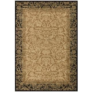 Everest Fontana Gold/ Black Rug (3'11 x 5'3)
