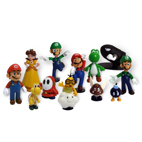 Nintendo Super Mario Brothers 2-inch Figure Set 11849018