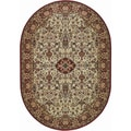 Everest Ardebil Ivory/ Red Rug (3'11 x 6'6)