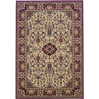 Everest Ardebil Ivory/ Red Rug (5'3 x 7'6)