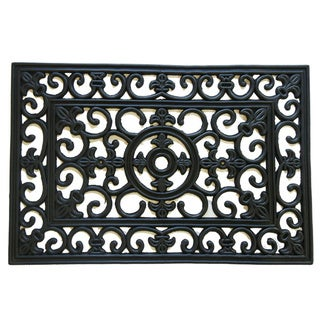 "Rubber-Cal ""Blooming Flowers"" Cast Iron Doormat"