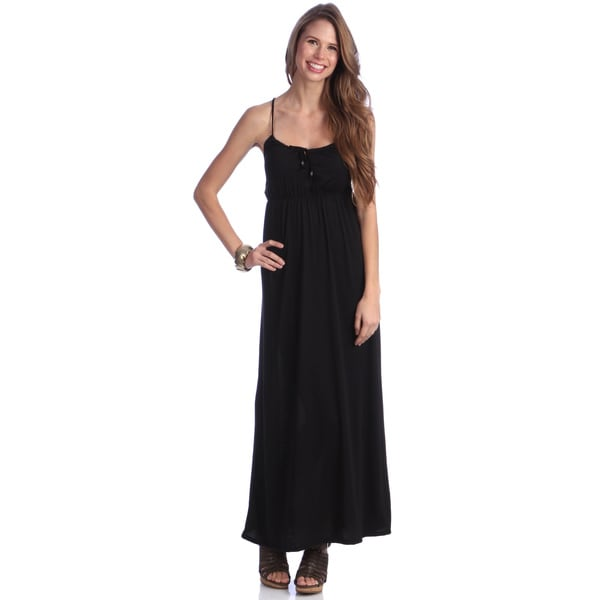 Women's Black Jersey Maxi Dress