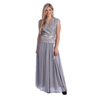 Alex Evenings Women's Silver 2-piece Evening Dress