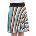 Women's Multi-colored Zig Zag Skirt