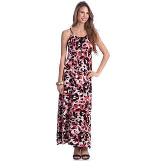 Women's Lipstick Leopard Print Maxi Dress