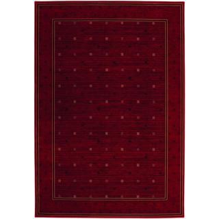 Everest Gridiron/ Crimson Rug (5'3 x 7'6)