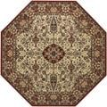 Everest Ardebil Ivory/ Red Rug (7'10 Octagon)