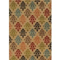 Floral Scroll Ivory/ Multi Polypropylene Rug (5' x 7'6)