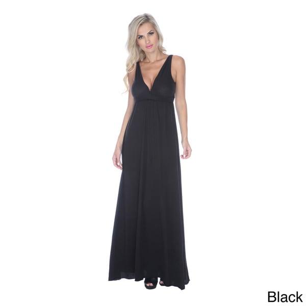 Stanzino Women's Empire V-cut Maxi Dress