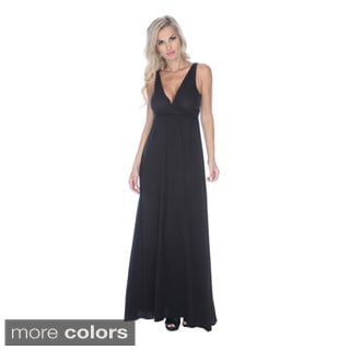 Stanzino Women's Empire V-cut Maxi Dress