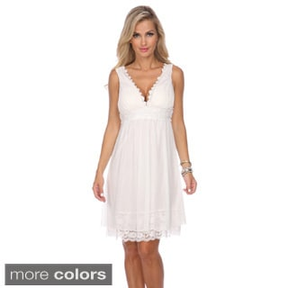 Stanzino Women's V-neck Embellished Party Dress