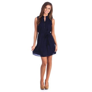 Stanzino Women's Navy Belted Dress