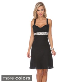 Stanzino Women's Sleeveless Embellished Mini Dress