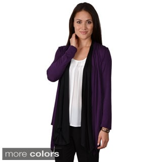 Journee Collection Women's Open Front Long Sleeve Cardigan