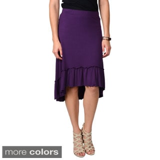 Journee Collection Women's Hi-lo Ruffled Skirt