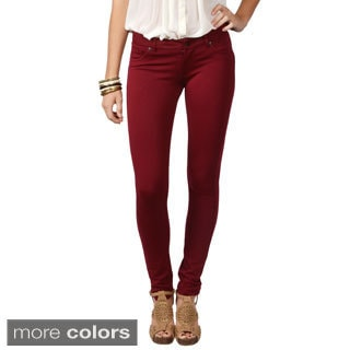Journee Collection Junior's Stretchy Fly-Front Skinny Pants