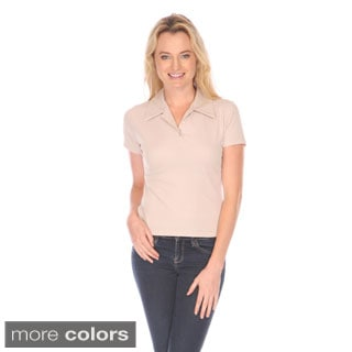 Stanzino Women's Petite Solid Polo Shirt