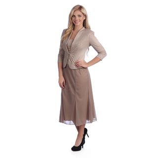 Alex Evenings Women's Mock T-length Evening Jacket and Dress Set