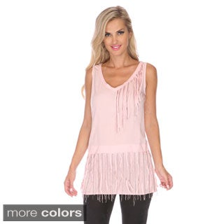 Stanzino Women's Fringe Detailed Sleeveless Tunic