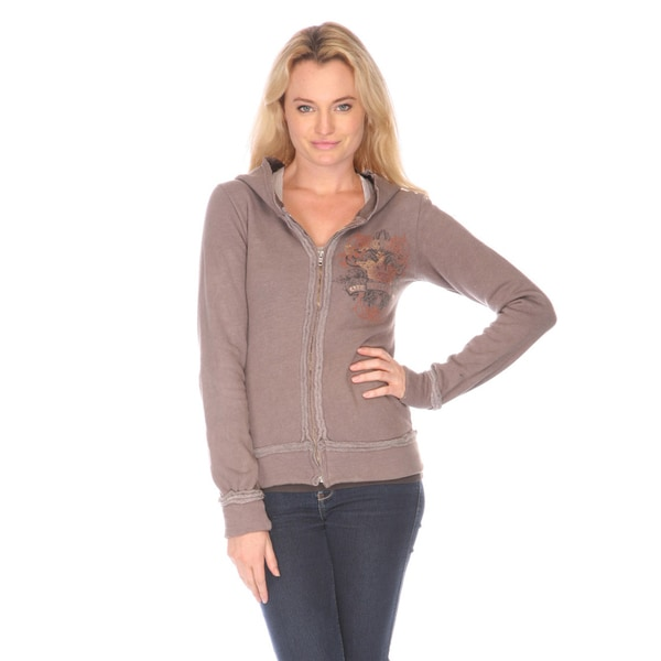 Zip Up Hooded Sweater Womens 60