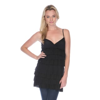 Stanzino Women's Black Tiered Babydoll Top