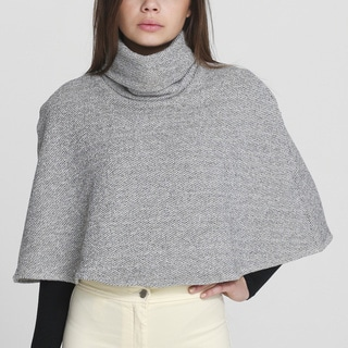 American Apparel Natural/ Black Turtleneck Cape