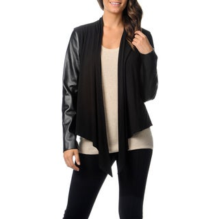 Chelsea & Theodore Women's Faux Leather Fashion Jacket