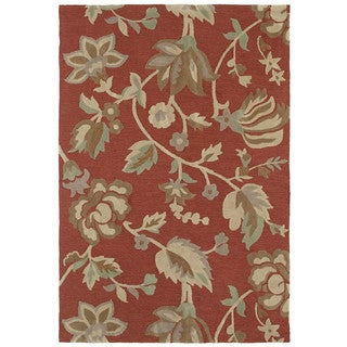 Brookside Salmon Garden Rug (4' x 6')