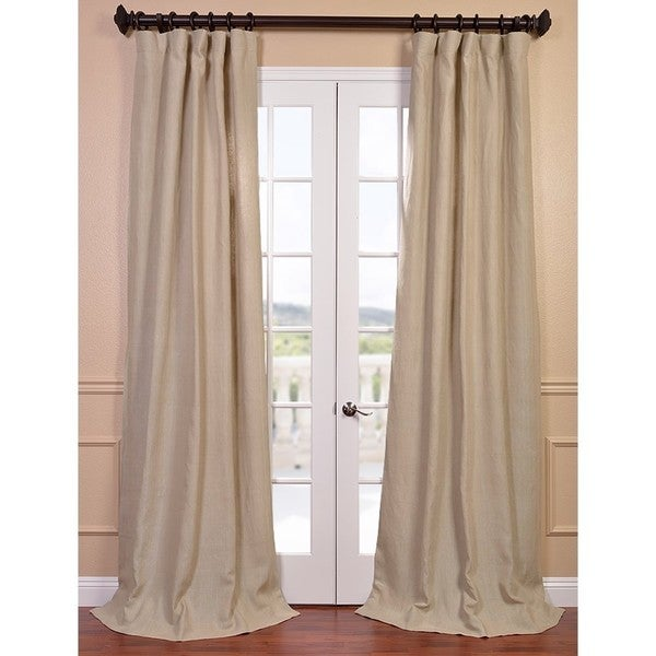 Natural French Linen Lined Curtain Panel