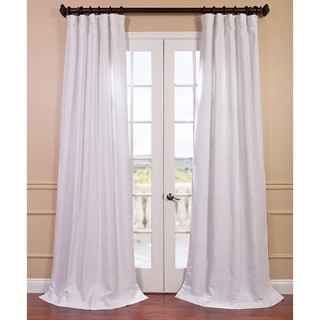 Blanc White French Linen Curtain Panel