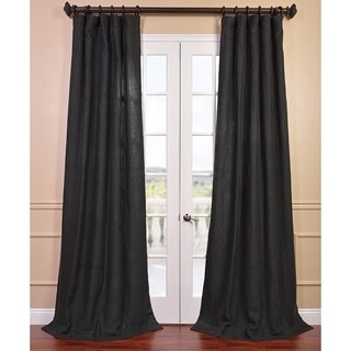 Carbon Grey French Linen Curtain Panel