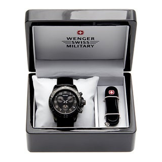 Wenger Men's Zurich Blackout Watch and Knife Set