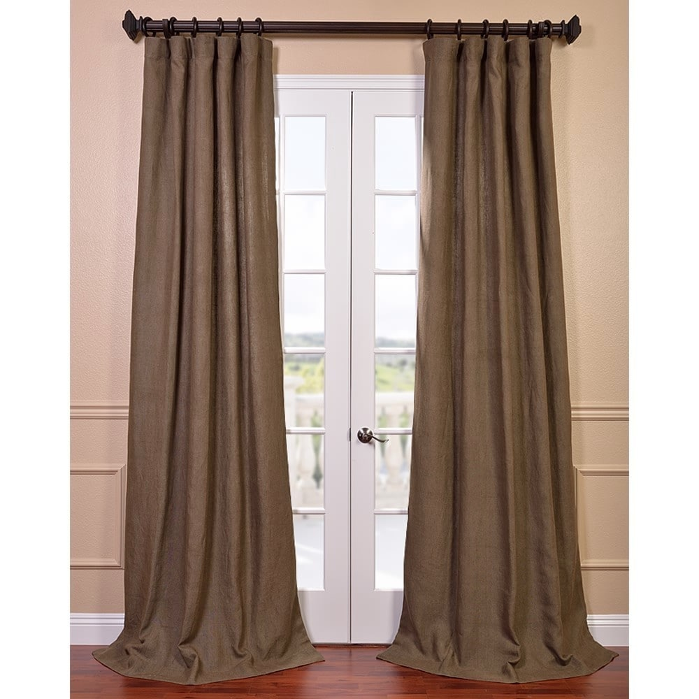 EFF Truffle Brown French Linen Curtain Panel at Sears.com