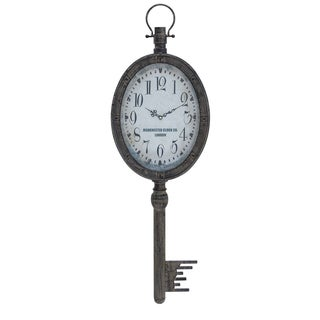 Manchester Clock Company Weathered Key Hanging Wall Clock