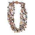 Multi-colored Freshwater Pearl 5-strand Necklace (4-8 mm)