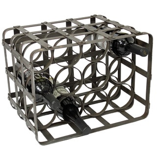 Casa Cortes Industrial 12-Bottle TableTop Metal Wine Rack